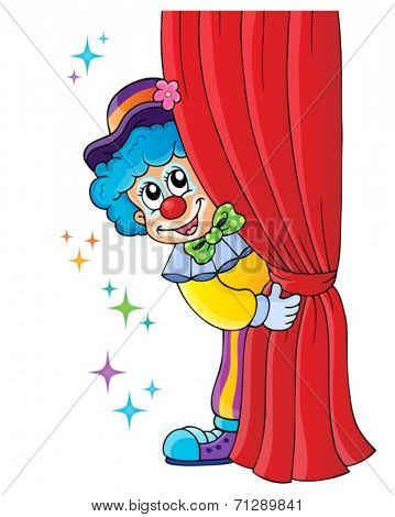 Clown thematics image 1 - eps10 vector illustration.