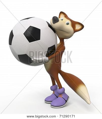 3D Foxes Football Player