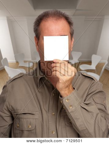 Man With Blank Sign