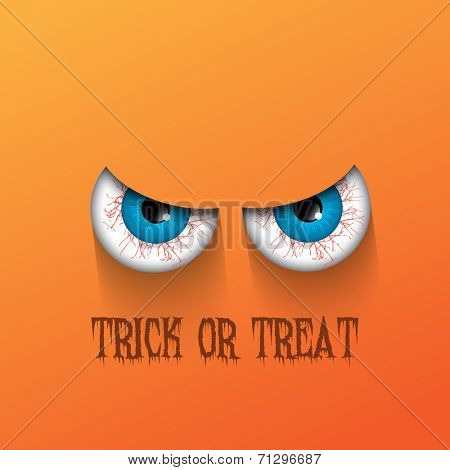 Spooky Halloween background with evil eyes