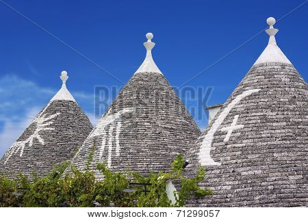 view of alberobello - puglia italy