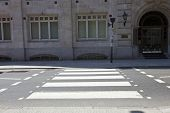stock photo of zebra crossing  - Zebra Crossing in the day - JPG