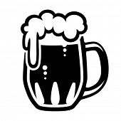 picture of drawing beer  - Beer mug - JPG