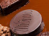 image of wieners  - still life of chocolate with Wiener cake - JPG
