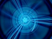 stock photo of time machine  - Glowing time machine computer generated abstract background - JPG