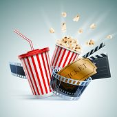 stock photo of clapper board  - Popcorn box - JPG