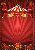 picture of school carnival  - Fun red circus poster - JPG