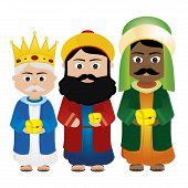 foto of magi  - Abstract Magi Cartoon on a white background - JPG