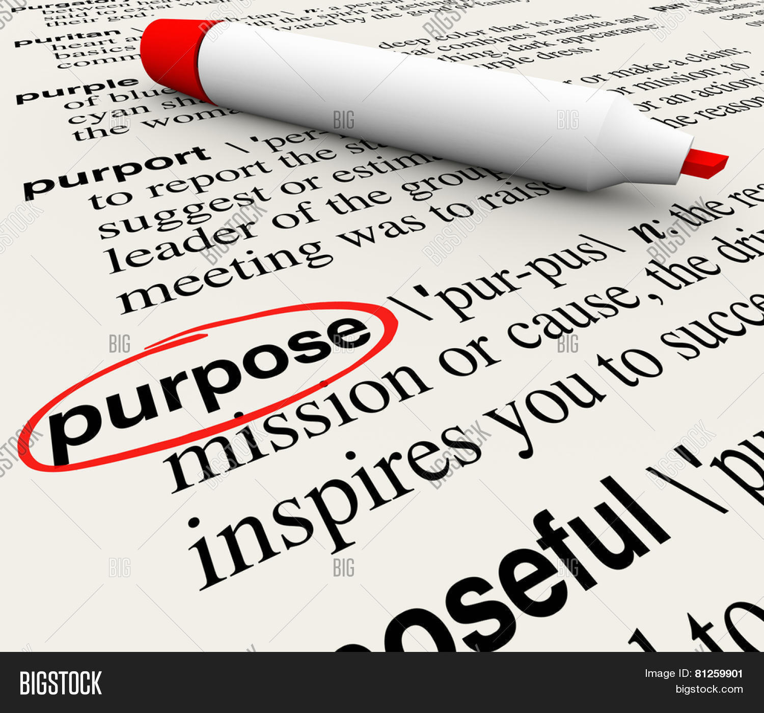 purpose word definition circled on a dictionary page to illustrate purpose word definition circled on a dictionary page to illustrate a deliberate or intentional act
