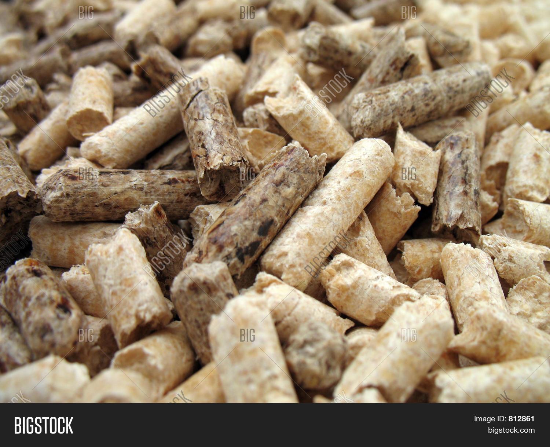 Large Wood Pellets ~ Wood pellets close image photo bigstock