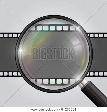 Frame magnifier. Vector