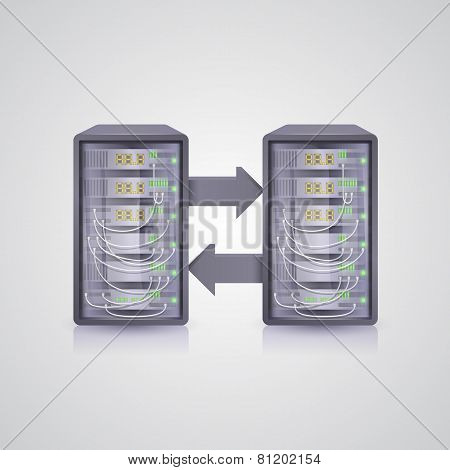 Data transmission through the server