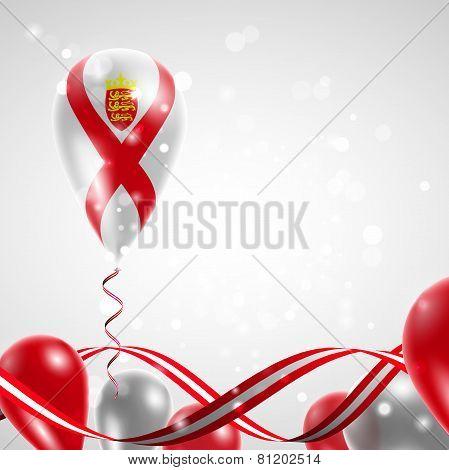 Flag Jersey on balloon