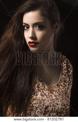 Girl With Golden Dress