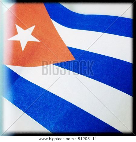 Instagram filtered image of the flag of Cuba