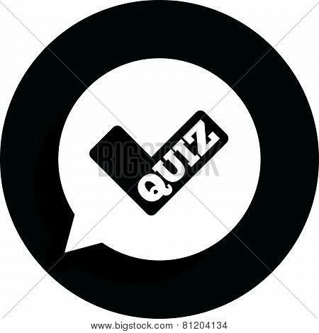 Quiz sign icon. Questions and answers game.