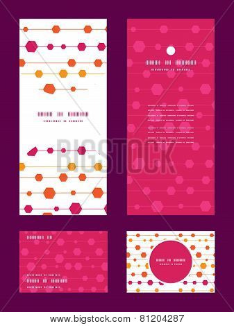 Vector abstract colorful stripes and shapes vertical frame pattern invitation greeting, RSVP and tha