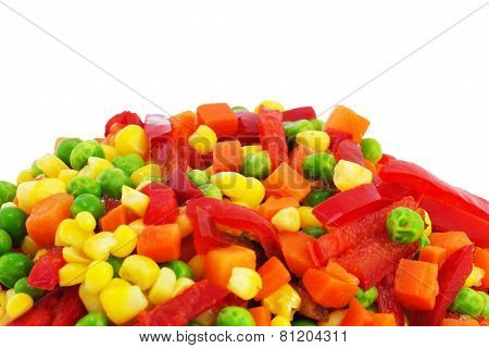 Colorful Frozen Vegetables