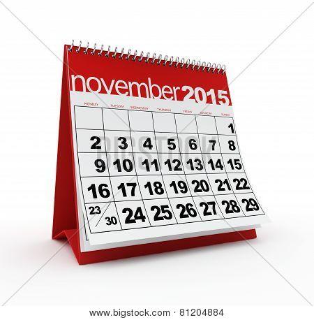 November 2015 calendar