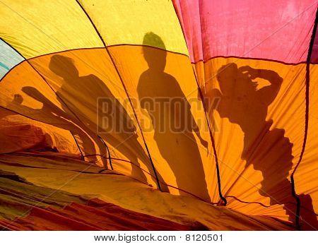 Hotair Balloon Silhouettes