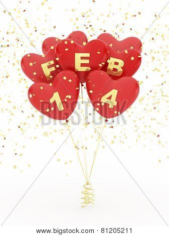 Heart shape ballons for valentines day