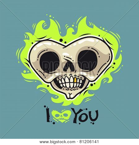 Burning Dead Heart Loves You
