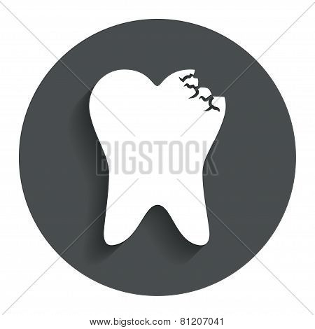 Tooth crystal sign icon. Dental prestige symbol.