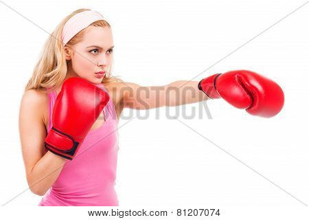 Blonde Boxing.