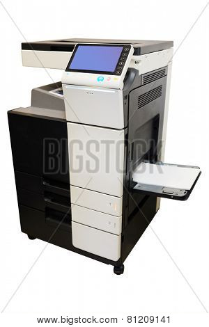 Multifunction printer isolated on white background