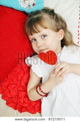 Girl On The Pillows