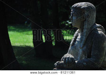 stone statue right