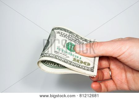 dollar - the greenback against a white background