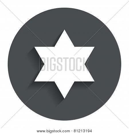 Star of David sign icon. Symbol of Israel.