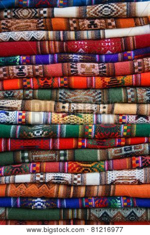 Andean colored fabrics