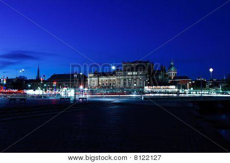 Evening Shot In Norrmalm (stockholm, Sweden)