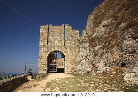Entrance To Ayios Georgios Castle