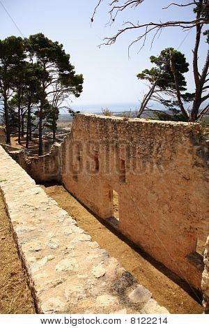 Old Wall Of Ayios Georgios Castle
