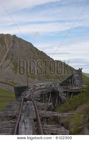 Top View Of Trestle Bridge At Independence Mine
