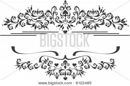 Decorative Ornament Border .  Graphic Arts.eps