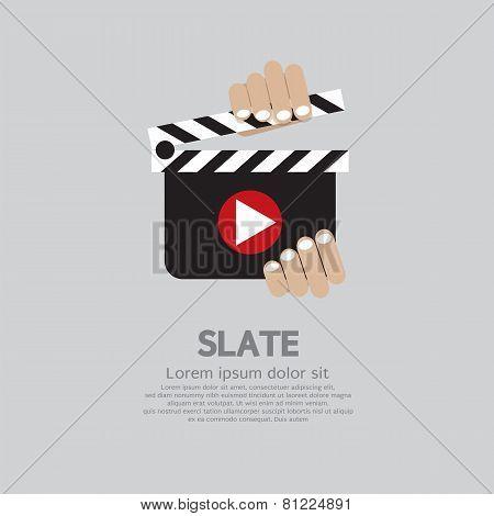Hand Holding A Slate.