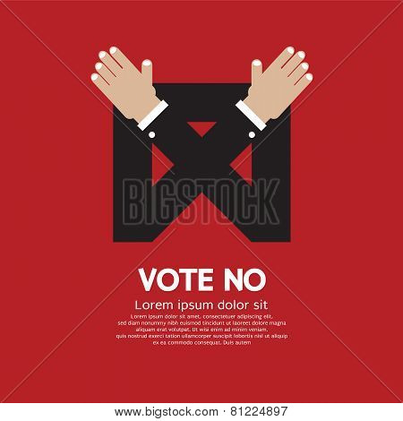 Vote No Vector Illustration