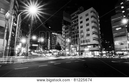 Tokyo, Japan - November 22, 2013: Street Life In Sengoku District Near Rikugien Garden