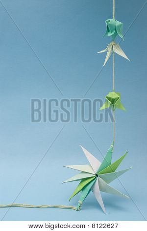 Origami On Thread With Star Shape