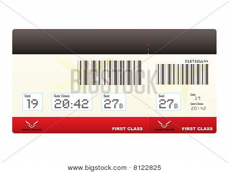 Plane Tickets First Class Swipe