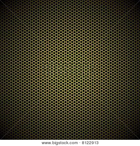 Hexagon Gold Metal Background