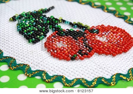 Fragment Of Beadwork