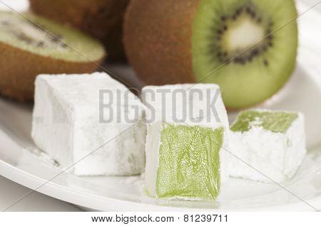 Lukum (turkish Delight) With Kiwi Fruit