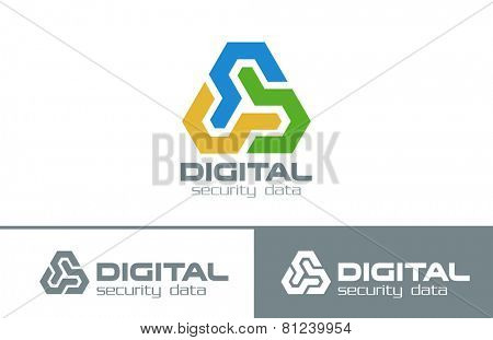 Business Abstract Infinity Looped Triangle Logo design vector template. Multifunctional Triple Corporate Technology Logotype concept icon.