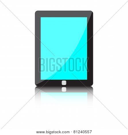 Illustration of modern technology device - computer tablet