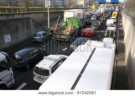 Traffic Jam In The Kings Tunnel